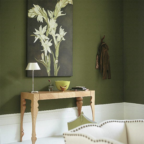 Olive green living room living room furniture decorating ideas - Green paint colors for living room ...