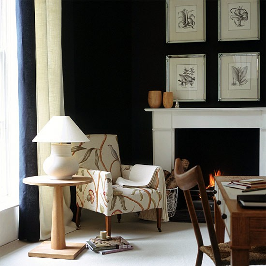 Black study | Office furniture | Decorating ideas | Image | Housetohome