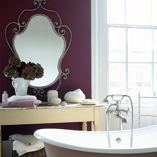 Purple bathroom washroom vanities decorating ideas for Washroom ideas