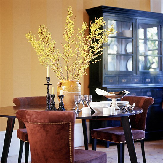 Classic yellow dining room | Dining room furniture | Decorating ideas | Image | Housetohome.co.uk
