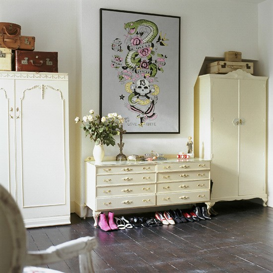 Vintage bedroom  Painted wooden floor  Image  Housetohome.co.uk