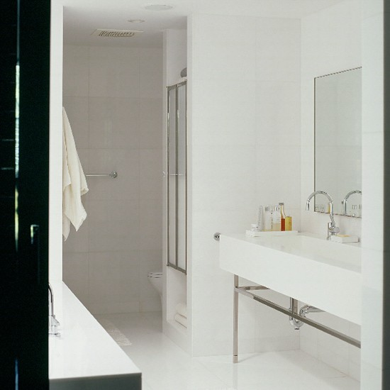 Innovative Modern Bathroom With White Tile  Contemporary  Bathroom  Other