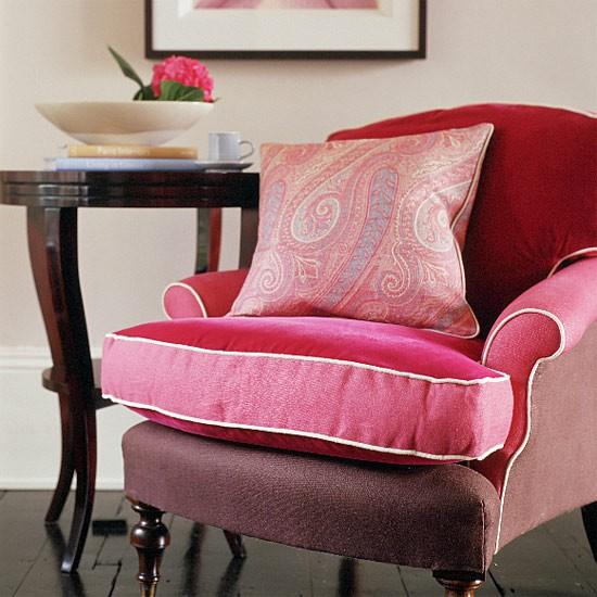 Pink and black living room living room furniture for Black and pink furniture