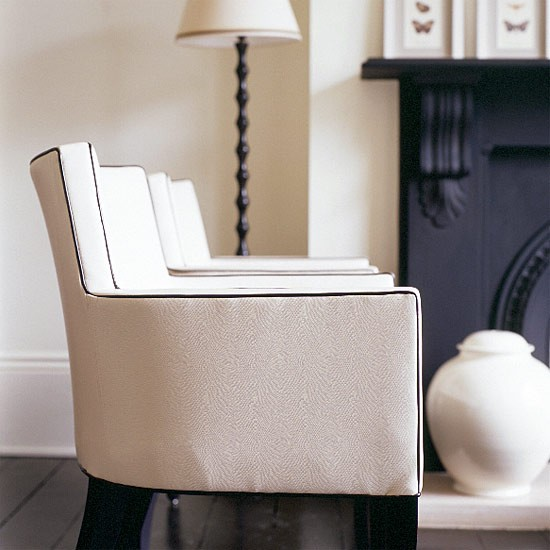 Classic two-tone living room | Living room furniture | Decorating ideas | Image | Housetohome.co.uk