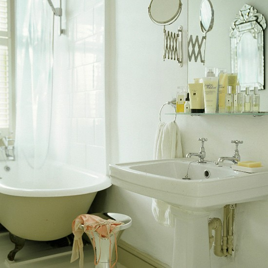victorian bathroom with freestanding bath