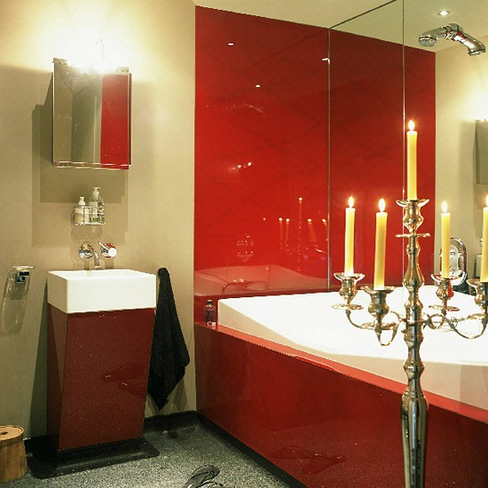 Small Oriental bathroom | Red accents | Image | Housetohome.co.uk
