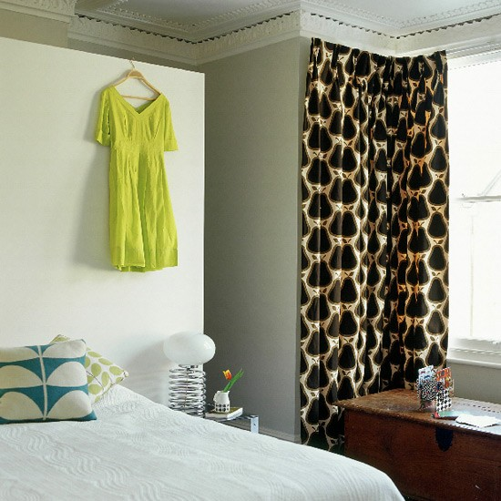 Space-saving bedroom | Bold curtains | Image | Housetohome.co.uk