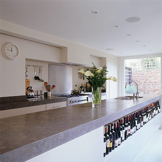 Contemporary open-plan kitchen | Kitchen design | Decorating ideas | Image | Housetohome