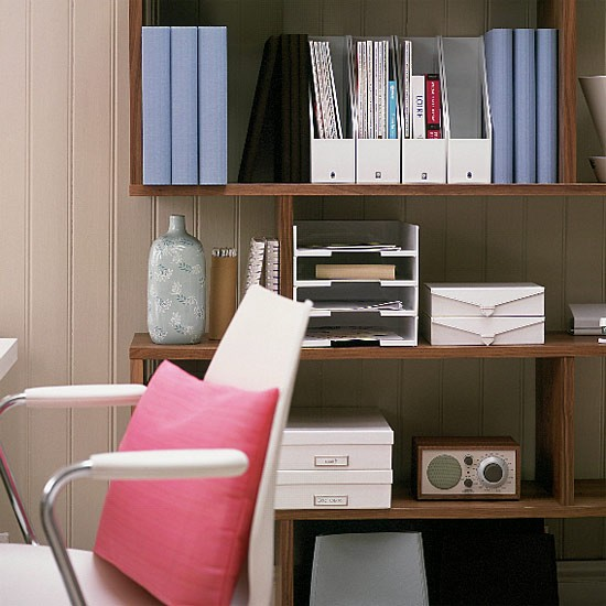 Tongue and groove home office | Office furniture | Decorating ideas | Image | Housetohome
