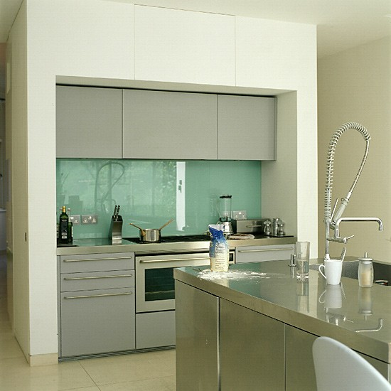 Contemporary stainless-steel kitchen | Kitchen Ideas |