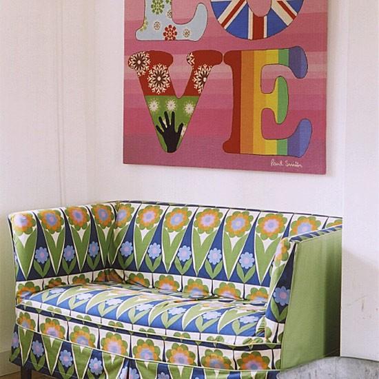 Patterned living room   decorating ideas   Image   Housetohome.co.uk