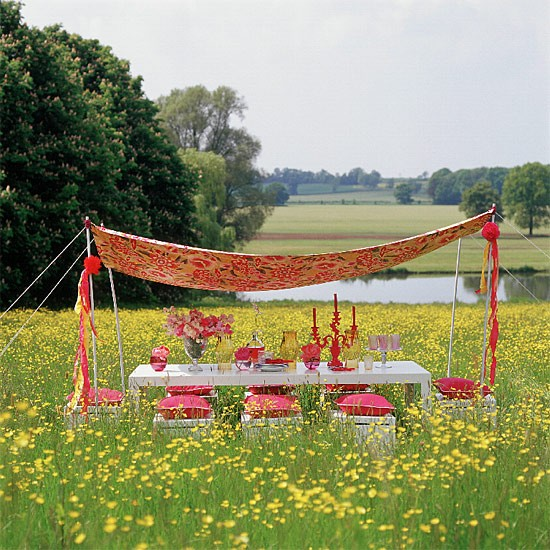 Garden dining with canopy | Outdoor furniture | Garden design | Image | Housetohome