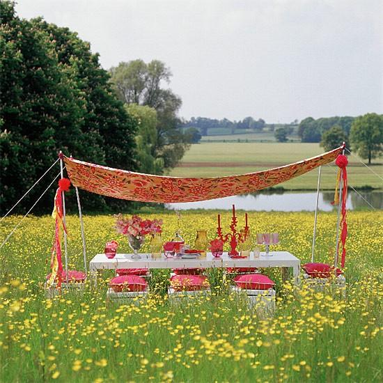 Garden dining with canopy   Outdoor furniture   Garden design   Image   Housetohome