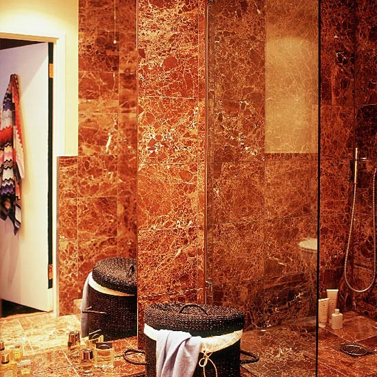 Marble tiled shower and bathroom | Bathroom vanities | Shower rooms | Image | Housetohome