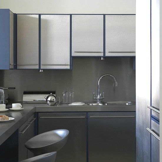Contemporary steel kitchen | Kitchen Ideas | Housetohome.co.uk