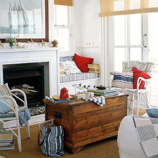 Nautical Living Room Neutral Tones