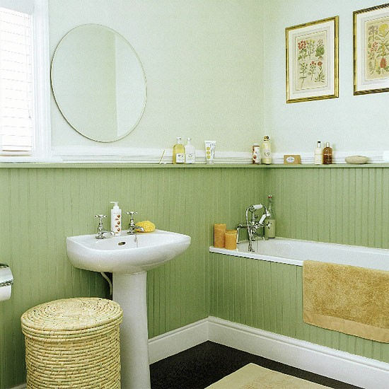 Bathroom with tongue and groove panelling - Bathroom wall paneling ideas ...