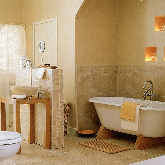 Moroccan bathroom bathroom designs bathroom vanities - Iluminacion cuarto de bano ...