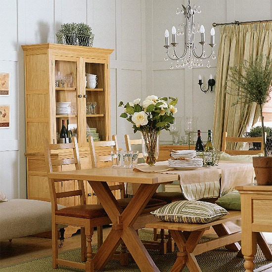 French country dining room dining rooms antique for Country style dining room ideas