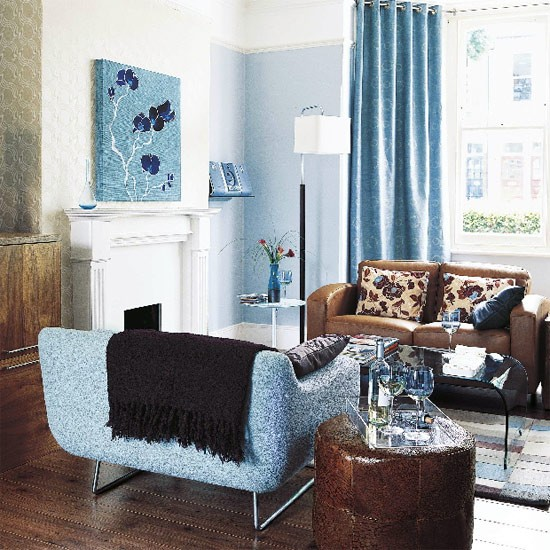 Blue Living Room Living Room Furniture Decorating