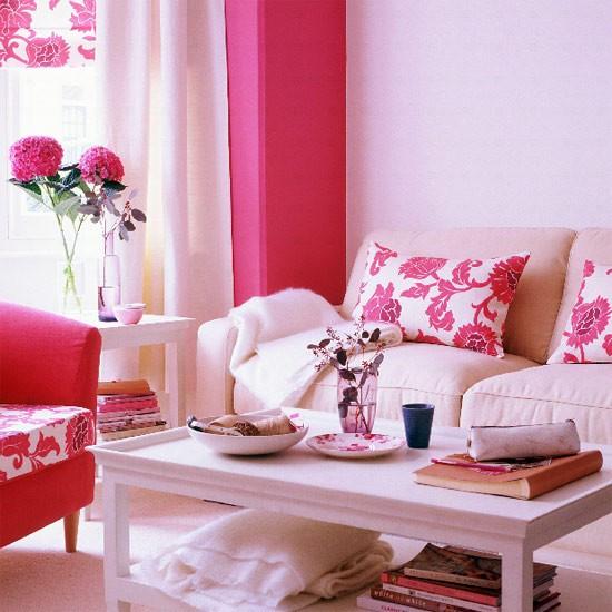Floral Living Room Furniture Decorating