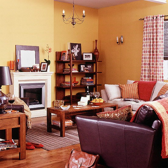 Living Room With Warm Ethnic Style Housetohome Co Uk