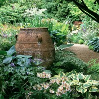 Rustic urn