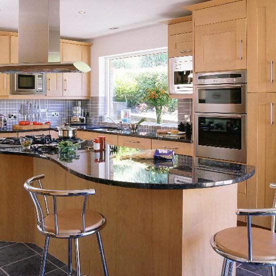 Modern oak and steel kitchen   Kitchen design   Decorating ideas   Image   Housetohome