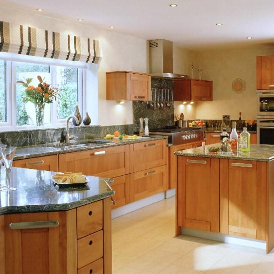 Modern Cherry Wood Kitchen Kitchen Decorating