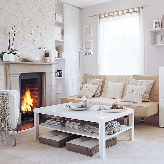 Calming living room | Shades of white | Image | Housetohome.co.uk
