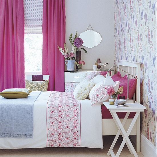 Bedroom with hot pink accent colour | Bedroom design | Decorating ideas | Image | Housetohome