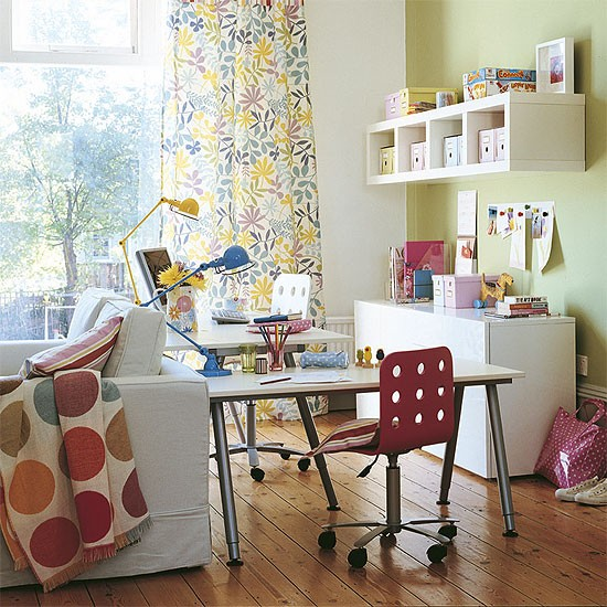 Family home office area | Office furniture | Decorating ideas | Image | Housetohome