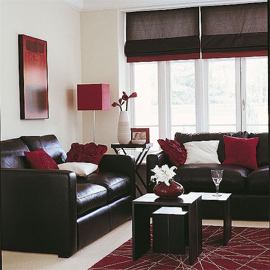 dark brown sofa living room design