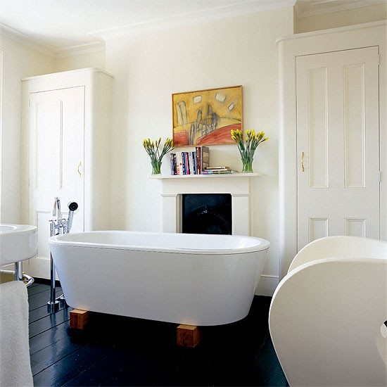 Georgian guest bathroom | Bathroom idea | Armchair | Image | Housetohome.co.uk