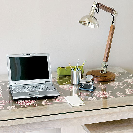 Home office work station | Desk with lamp | Decorating ideas | Image | Housetohome