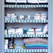 Utility room storage shelves