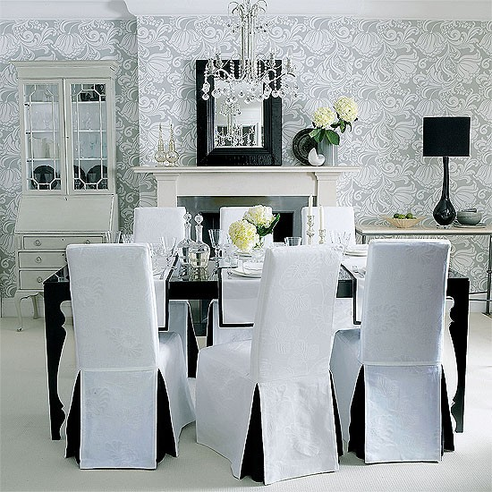 Monochrome formal dining room | Dining room furniture | Decorating ideas | Image | Housetohome