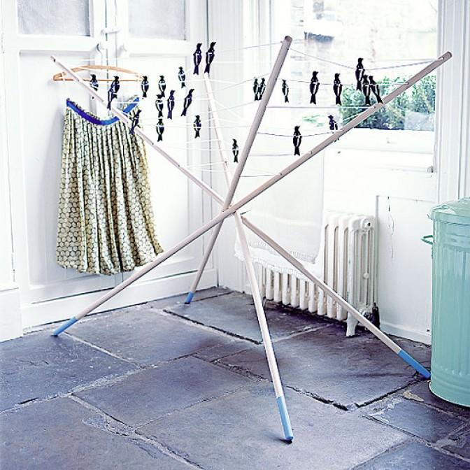 Utility room drying rack