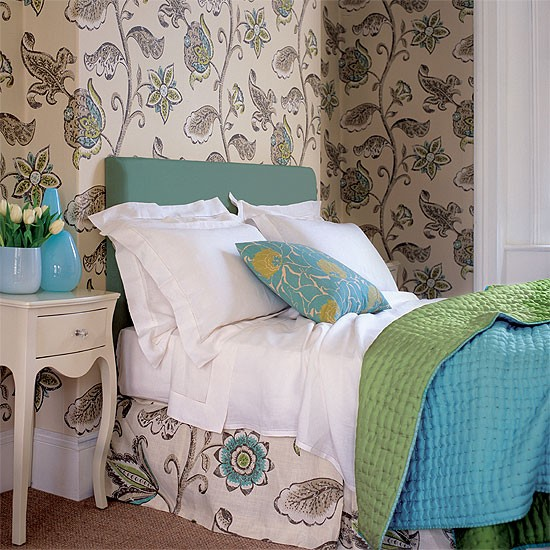 Patterned bedroom | Bedroom furniture | Decorating ideas | Image | Housetohome