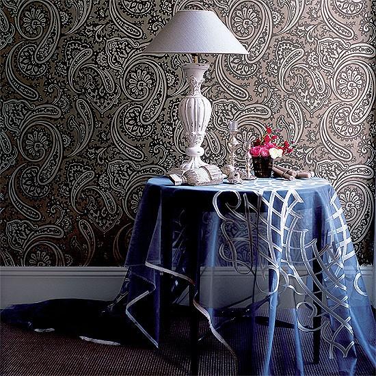 Patterned living room corner   Image   Housetohome.co.uk