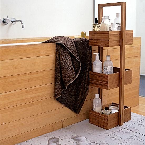 Spa-style bathroom   Bathroom idea   Wooden bath   Image  