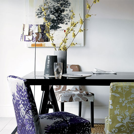 Modern patterned dining room