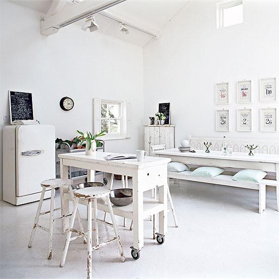 Shabby Chic Modern Open Plan Kitchen Open Plan Kitchen