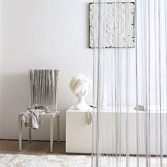 Foyer Divider Ideas : Hallway with room divider furniture decorating