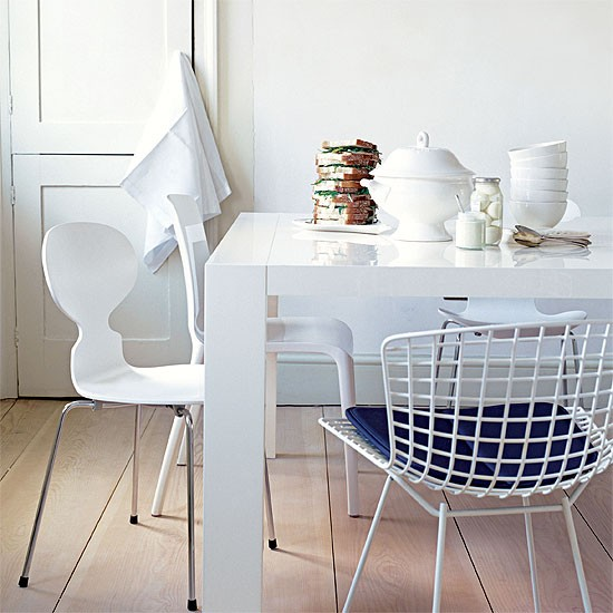 White classic dining room | Dining room furniture | Decorating ideas | Image | Housetohome