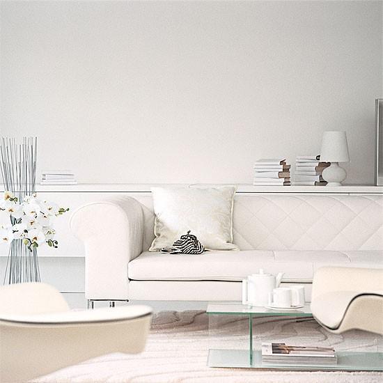 White contemporary living room | Decorating ideas | Image | Housetohome.co.uk