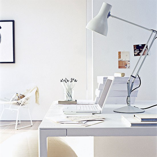 White Home Office Office Furniture Decorating Ideas