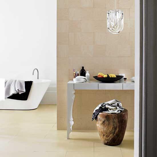 Plywood bathroom
