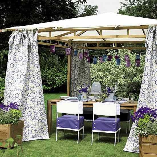 Garden with pretty gazebo dining area | Garden furniture | Design ideas | Image | Housetohome