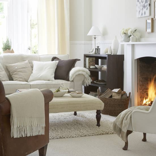 Warm Living Room Ideas: Warm White Living Room